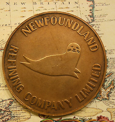 1973 NEWFOUNDLAND Come by Chance Oil Refinery medal Token LOW # 000340