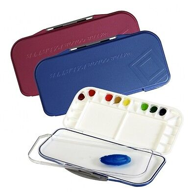Mijello Fusion Leakproof/Airtight Watercolor Palette 18 Well MWP-3018 Blue Pink