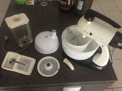 Vintage Retro Mixer Sunbeam MixMaster with all attachments 12 Speeds Works Well