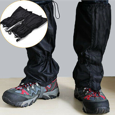 Waterproof Outdoor Climbing Hiking Snow Ski Shoe Leg Covers Boot Legging Gaiters