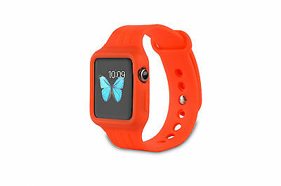 Supremery Apple Watch 38 mm Sport strap Silicone Bracelet with Lock