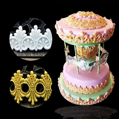 Retro Basket Of Flowers Edge Silicone Cake Chocolate Cookies Mould Tool