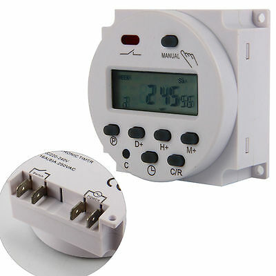 AC 220V Digital LCD Display Power Programmable Timer Time Switch Relay 16A BI118