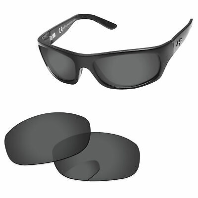 Stealth Black Polarized Replacement Lenses For-Maui Jim Surf Rider MJ261