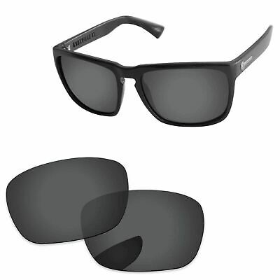 Stealth Black Polarized Replacement Lenses For-Electric Knoxville XL Sunglasses