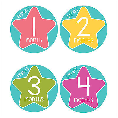Personalised Monthly Baby Stickers, Milestone Stickers, Baby Shower Gift_G033
