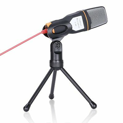 Condenser Microphone with Tripod 3.5mm jack for PC Laptop Computer - Black SP