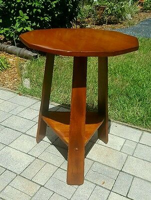 Vintage Arts & Crafts Mission Stickley Style OAK OCCASION ACCENT end Table