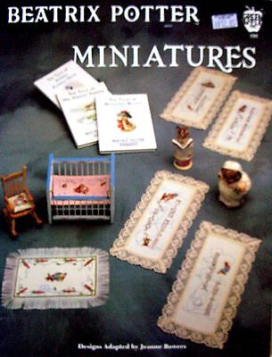 BEATRIX POTTER MINIATURES Designs Adapted by Jeanne Bowers - VGC