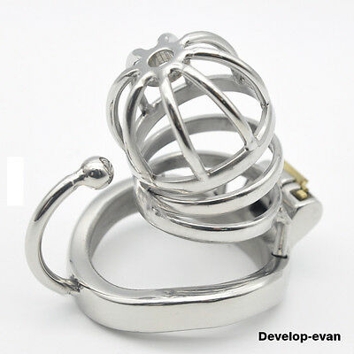 Latest Design Male Chastity Devices Stainless Steel new Lock Small Cage C275