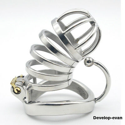 New Male Chastity Device Long Bird Cage Stainless Steel Chastity device C276