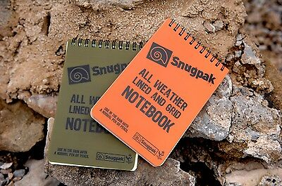 Snugpak A6 All Weather Water Resitant Notebook Lined or Grid Paper - Survival
