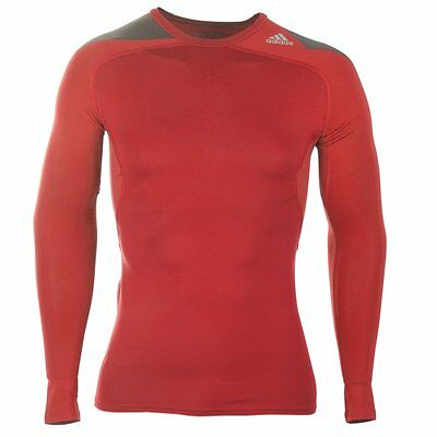 NEW Men's Adidas TechFit Base Layer Top - XL - Warm Rugby Compression Shirt
