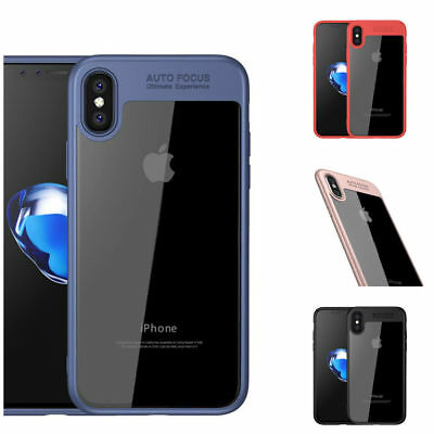 Apple iPhone X 8 7 8 Plus Luxury Ultra Thin Clear Soft TPU Rubber Case Cover