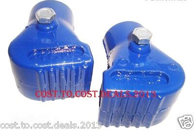 VESPA PAIR OF ALLOY 22mm STAND FEET BLUE for PX, 125, 150, 200, T5 & CLASSIC LML