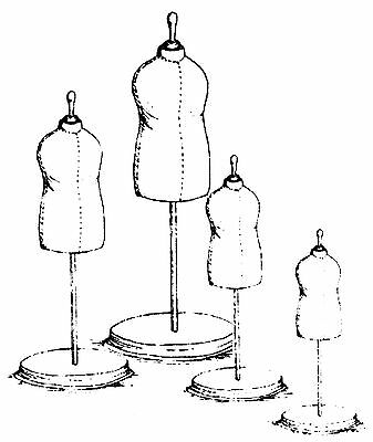 Child Doll Dress Form Sewing Pattern with 4 Sizes   #3Combo