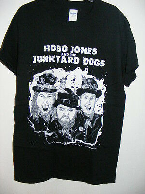 HOBO JONES & JUNKYARD DOGS T-Shirt with BIRDY ROSE design sizes - S, M & L