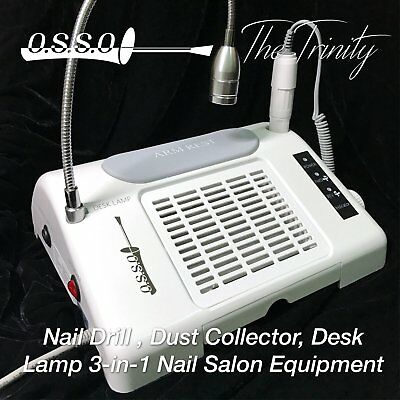 Nail Drill Dust Collector Desk Lamp 3-in-1 machine for salon
