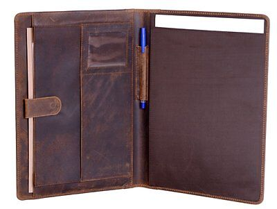 KomalC Genuine Leather Business Portfolio, Personal Organizer , Luxury Leather ,