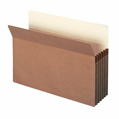 """Smead File Pocket, Straight-Cut Tab, 5-1/4"""" Expansion, Legal Size, Redrope, 10"""