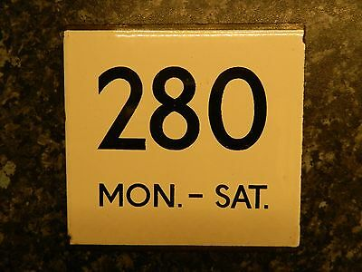 *(Buy It Now) London Transport E plate Route 280 Mon - Sat