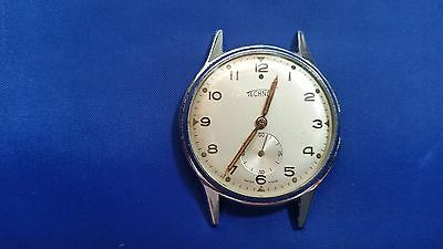 Vintage Technos 15 jewels Men's Watch Swiss Made for parts