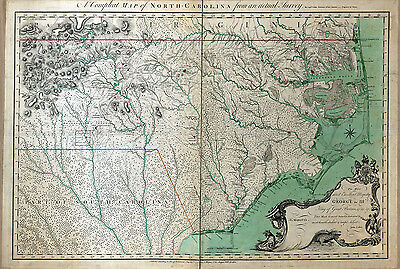 1770 Map of North Carolina