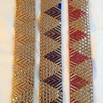 Embroidered Indian Vintage Lace Trim Sewing Dress Craft Ribbon Bridal Trimmings