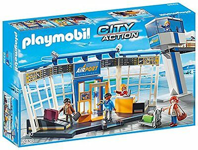 Playmobil 5338 City Action Airport Terminal Control Tower NEW SEALED WORLDWIDE