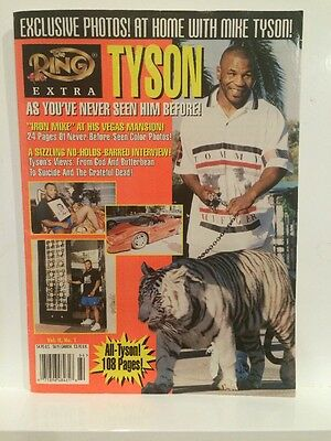 THE RING Extra MAGAZINE MIKE TYSON BOXING Volume II no. 1 Rare With Tiger