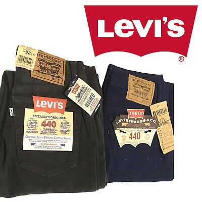 Jeans Donna Levi's 440 Levis Brushed Button-Fly Flat grigio blu bambina