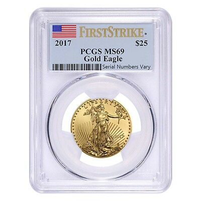 2017 1/2 oz Gold American Eagle PCGS MS 69 First Strike