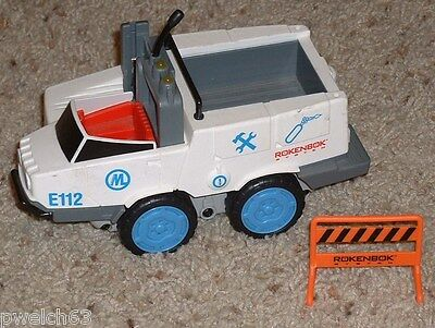 Rokenbok RC Classic Emergency Speedster vehicle with barricade
