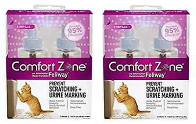 Comfort Zone 4-Pack with Feliway for Catridge 1.62 fl. oz., Refills,Top Quality