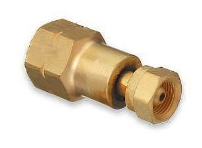 CGA 200 To CGA 510 adapter. Converts smaller acetylene tank to larger regulator