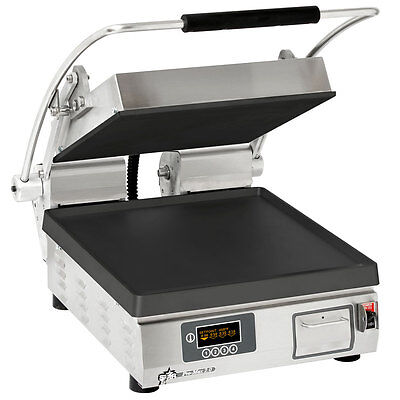Star PST14IT Pro-Max Panini Grill Smooth Iron Plate w/ Electronic Timer