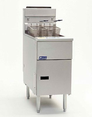 Pitco Solstice 50Lb Stainless Steel Deep Fryer - Sg14S