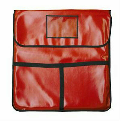 "Thunder Group Pizza Delivery Bag Red Insulated 24"" X 24"" X 5"" - Plpb024"