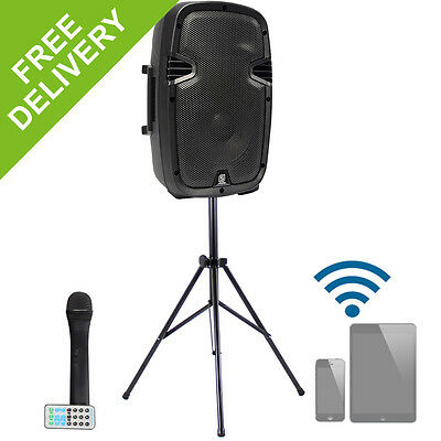 """Skytec 10"""" Active PA Gym Dance Aerobics Speaker System + Professional Stand 400W"""