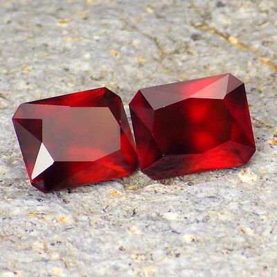 HESSONITE GARNET-MOZAMBIQUE 8.60Ct TW MATCHING PAIR-COLLECTOR GRADE GEMSTONES