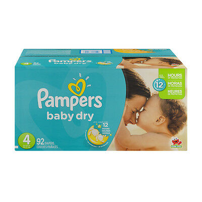 Pampers Baby Dry Size 4, 92 count