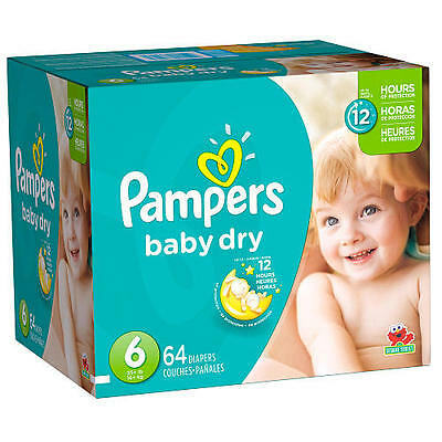 Pampers Baby Dry Size 6, 64 count