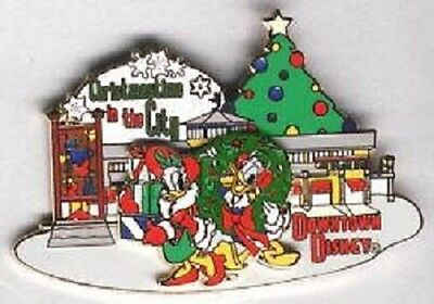 DONALD & DAISY CHRISTMASTIME In THE CITY 2001 LE 1500 XMAS WDW DISNEY PIN 8604