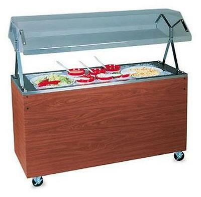 "Vollrath R38778 60"" Portable Refrigerated Food Station Cherry w/ Storage"