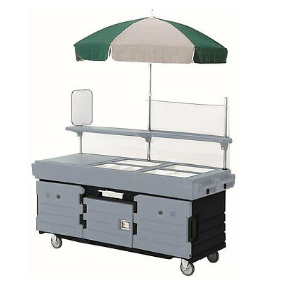 Cambro KVC854426 4 Well Vending Merchandising Cart w/ Umbrella Black & Gray