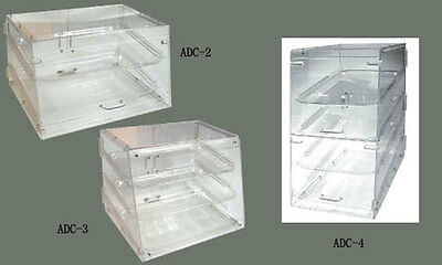 Winco ADC4 Counter Top Acrylic Display Case 4 Trays