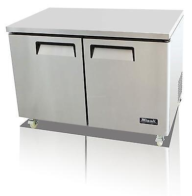 Migali C-U48F 12 Cu.ft SS Under-counter Freezer Two Solid Doors