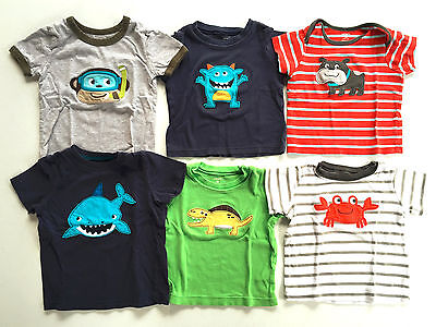 Lot of 6 Carter's Short-Sleeve T-Shirts Size 18 Months