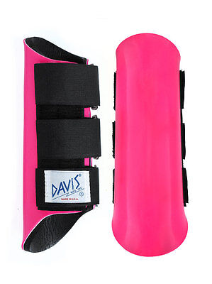 Davis Horse Boots Classic Tendon Brushing Jumping Protection Pink Glitter Small