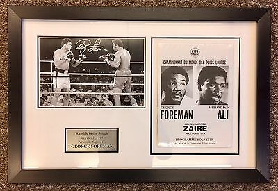 "George Foreman vs Muhammad Ali ""Rumble In The Jungle"" Personal Signed By Foreman"